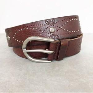 Fossil genuine leather boho belt